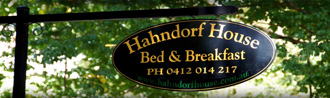 Hahndorf accommodation gate sign